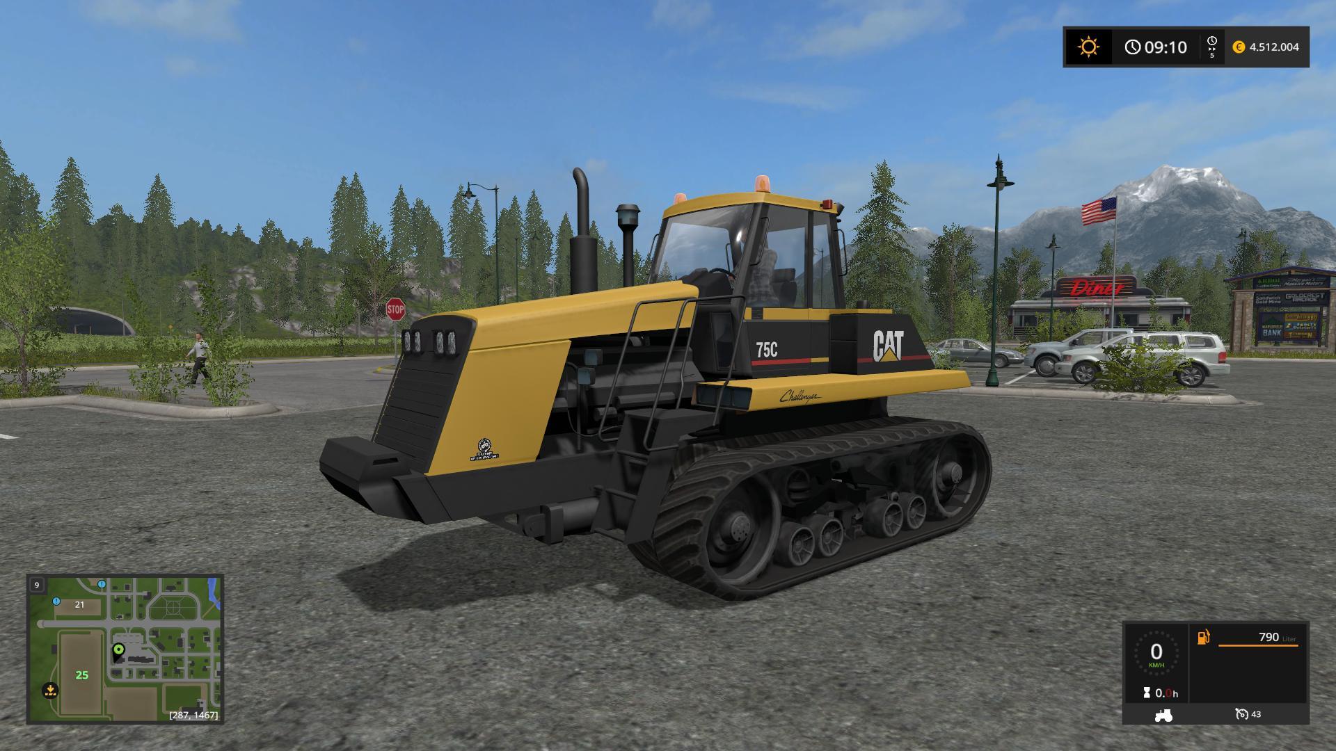 Мод трактор CATERPILLAR 75C V1.1.0.0 Farming Simulator 2017