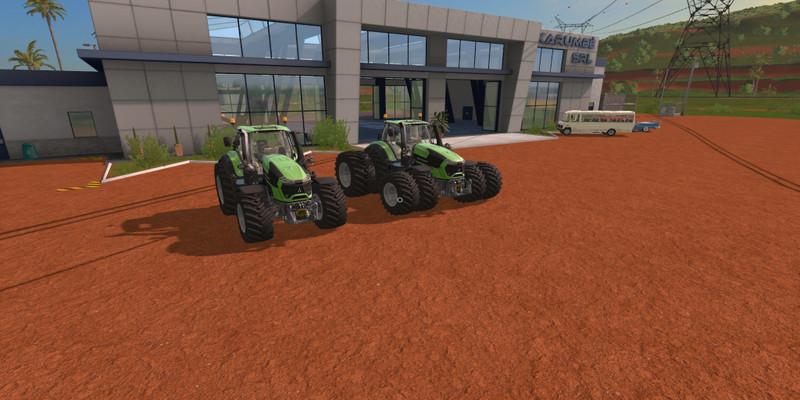 Мод трактор Deutz Fahr Series 9 Power V1.05  Farming Simulator 17