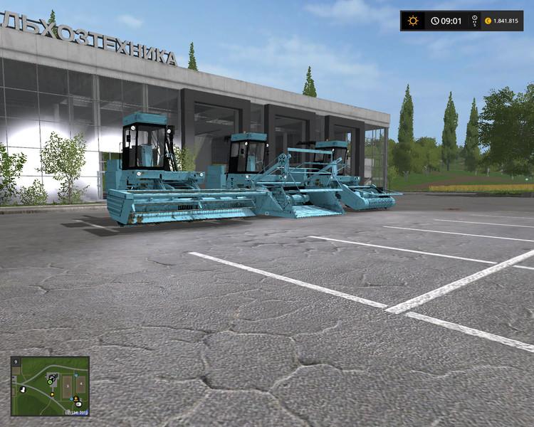 Мод ПАК комбайн FORTSCHRITT E-281 WITH 3 CUTTING UNITS V1.0 FS17
