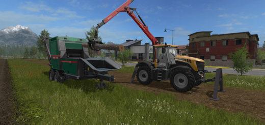 Мод трактор JCB Fastrac 3000 Xtra Forest Farming Simulator 17