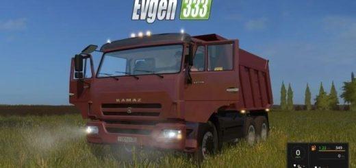 Мод грузовик Камаз KAMAZ 65115 V1 Фермер Симулятор 2017