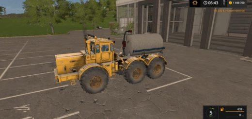 Мод трактор KIROVETS K-701 6X6 CISTERN V1.1 Фарминг Симулятор 2017