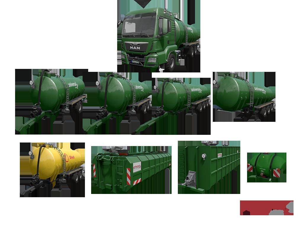 Мод ПАК Kotte Universal Pack v1.2.0.0 Farming Simulator 17