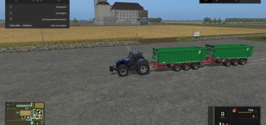 Мод прицеп KROEGER TAW30A V1.0 MP Farming Simulator 17