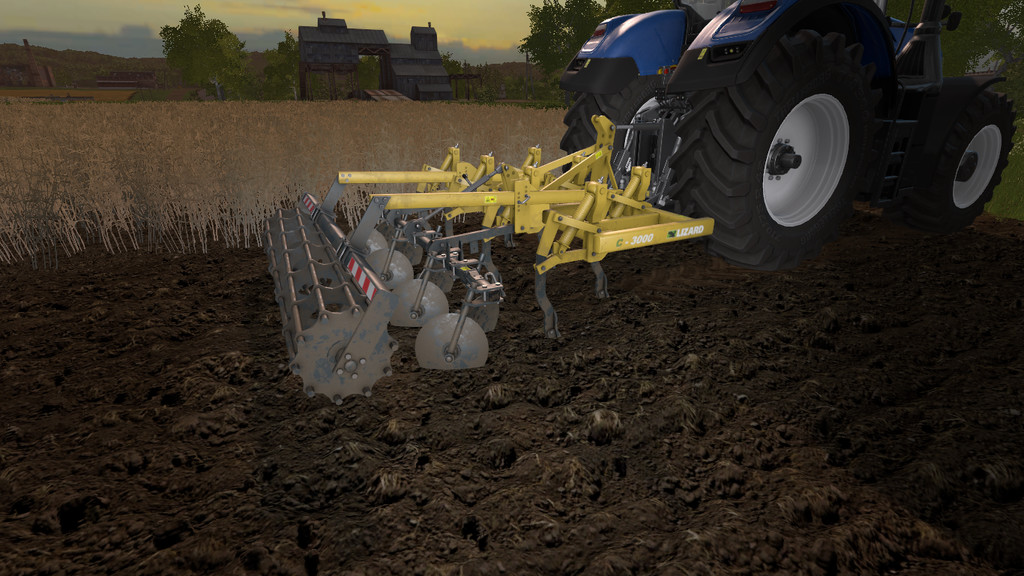 Мод культиватор LIZARD C-3000 V1.0.0.0 Farming Simulator 2017
