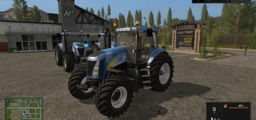 Мод трактор NEW HOLLAND TG200 V4.0 Farming Simulator 17