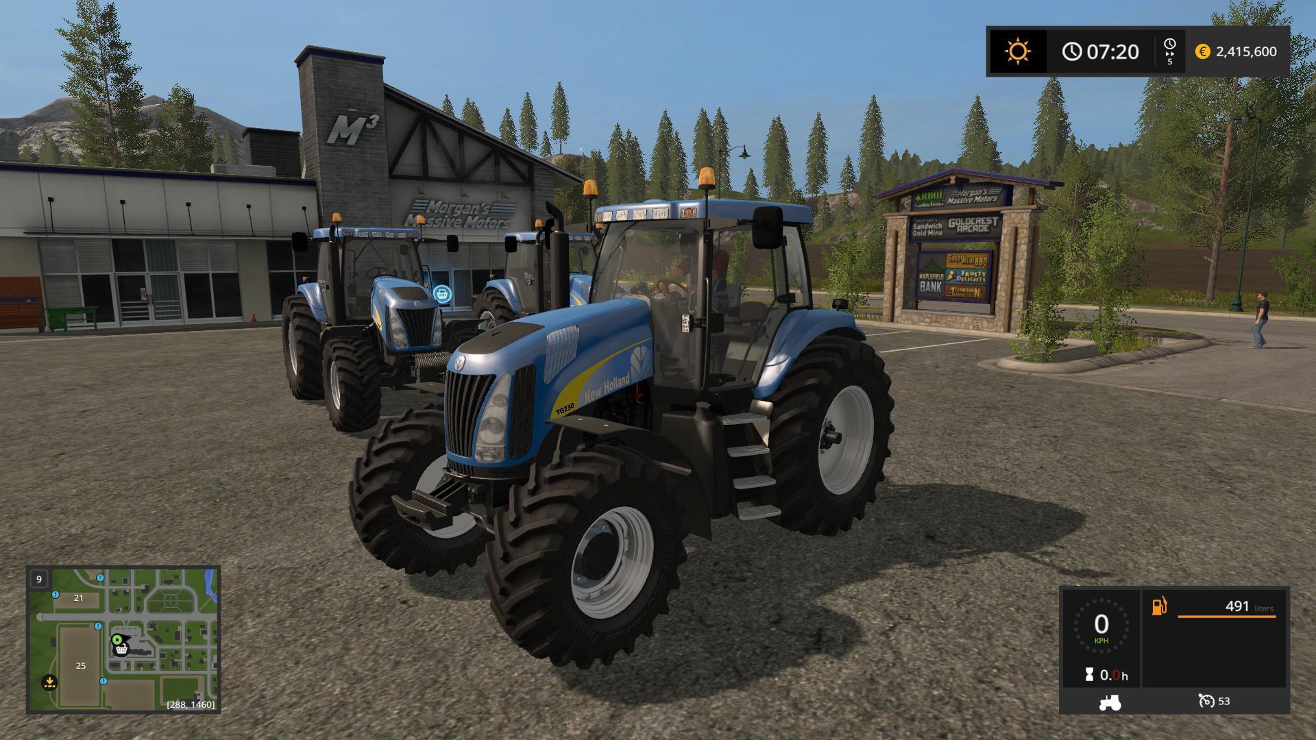 Мод трактор NEW HOLLAND TG200 V4.0 Farming Simulator 17
