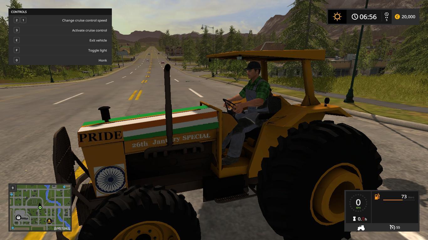 Мод трактор VALMET 118 INDIAN MOD V1.0 Farming Simulator 17