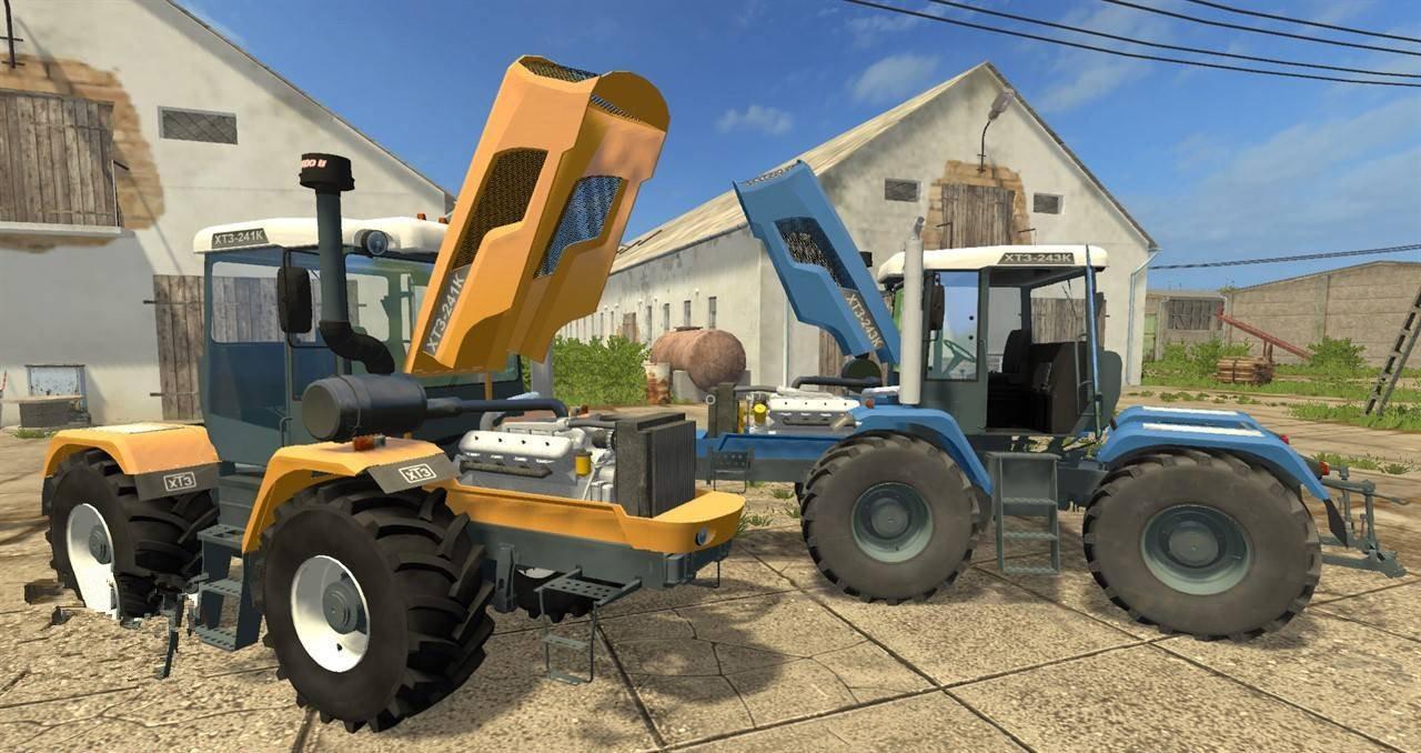 Мод трактор ХТЗ XTZ 243K V1.0 Фарминг Симулятор 2017