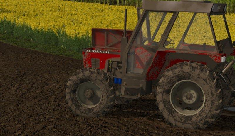 Мод трактор ZETOR 5245 V1.0 Farming Simulator 2017