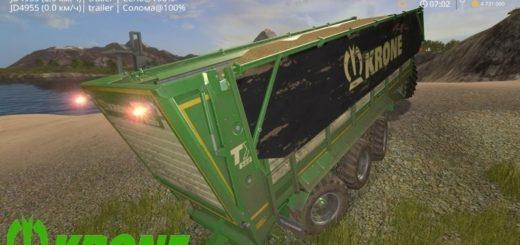 Мод прицеп Krone TX 560 D v1.0 Farming Simulator 17