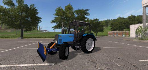 Мод трактор МТЗ-892 и отвал v1.0 Фермер Симулятор 2017