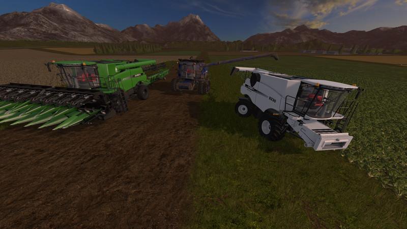 Мод ПАК комбайн CASE IH 9230 PACK V1.0 Farming Simulator 17