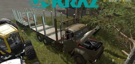 Мод грузовик КрАЗ-6233 М6 Лесовоз v1.0 NEW Фарминг Симулятор 2017