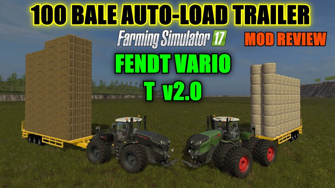 Мод прицеп New Holland 100 AutoLoader v1.0 Farming Simulator 17