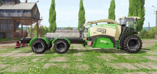 Мод комбайн KRONE BIG X 580 HKL V1.0 FS17
