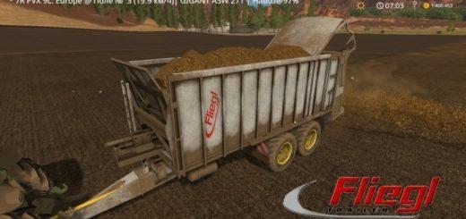 Мод прицеп Fliegl ASW 271 v2.2 Farming Simulator 2017