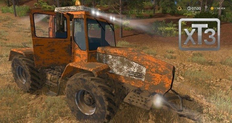 Мод трактор ХТА-220-2 v1.0 Фарминг Симулятор 2017