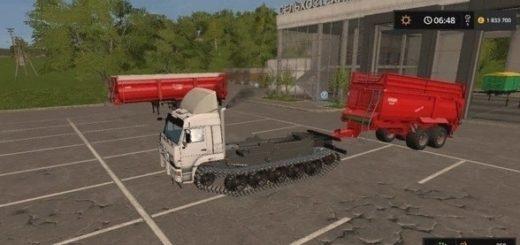 Мод грузовик КамАЗ 5460 на Гусеницах v1.1 Фермер Симулятор 2017