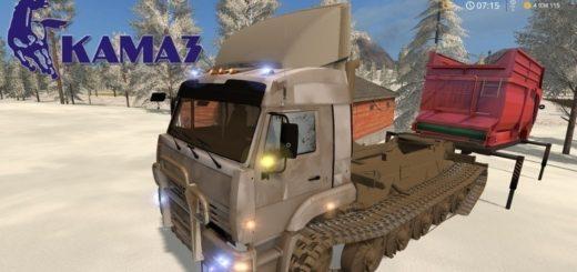 Мод грузовик КамАЗ 5460 на Гусеницах v1.3 Фарминг Симулятор 2017