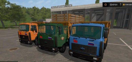 Мод грузовик МАЗ-5516 v1.1 Фарминг Симулятор 2017