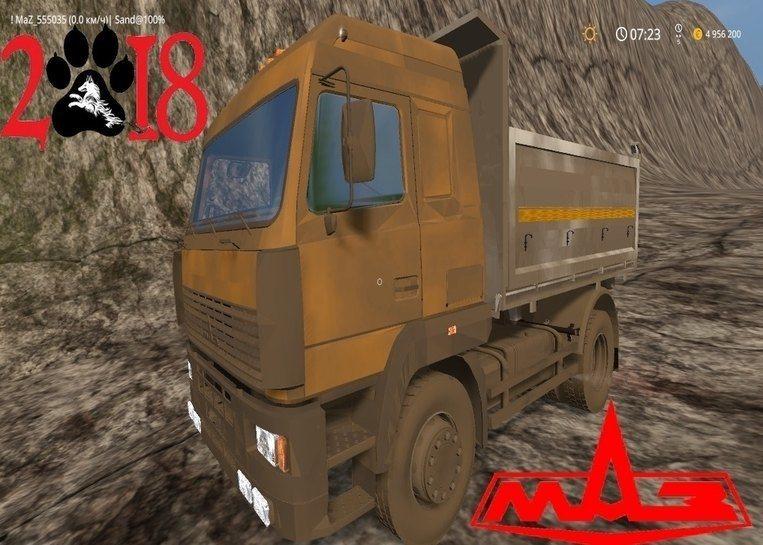 Мод грузовик МАЗ-555035 v1.0 Фермер Симулятор 2017