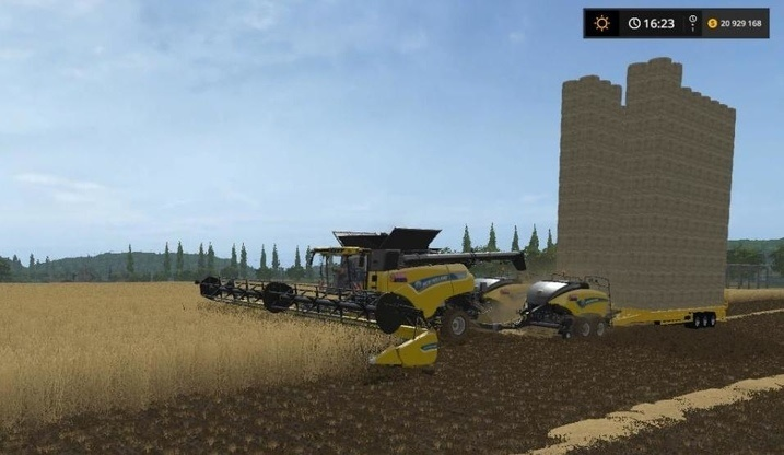 Мод комбайн New Holland 2 Baler v1.0 Farming Simulator 2017
