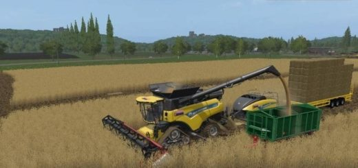 Мод комбайн New Holland 4 in 1 v1.0 Farming Simulator 2017