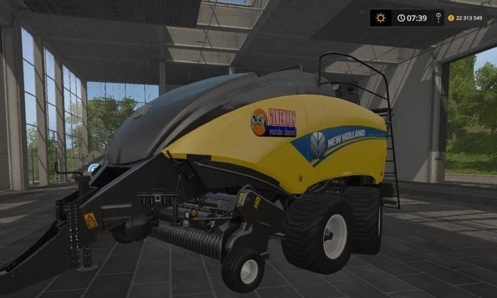 Мод тюкопресс New Holland Round bales v1.0 FS17