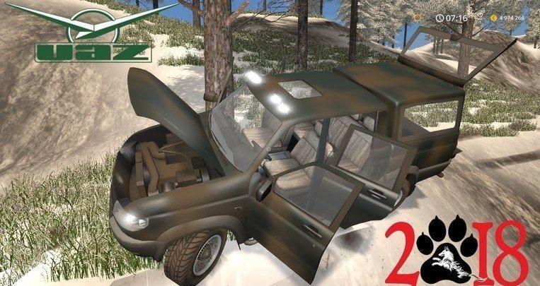 Мод авто УАЗ Патриот Пикап v1.0 Фарминг Симулятор 2017