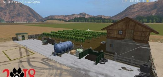 Мод Placeable Farm Grape Fabrik Farming Simulator 17