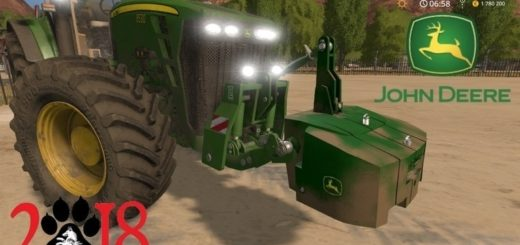 Мод противовес John Deere Easymass v1.0 Farming Simulator 2017