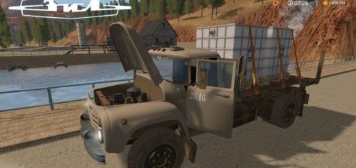 Мод грузовик ЗиЛ-130 Платформа v1.0 Фермер Симулятор 2017