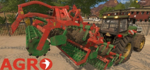 Мод культиватор Agromasz AT 30 v1.0 Farming Simulator 2017