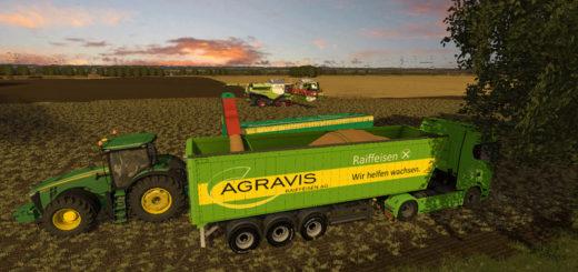 Мод прицеп AGRARVIS TRAILER V2.1.0.0 Farming Simulator 17
