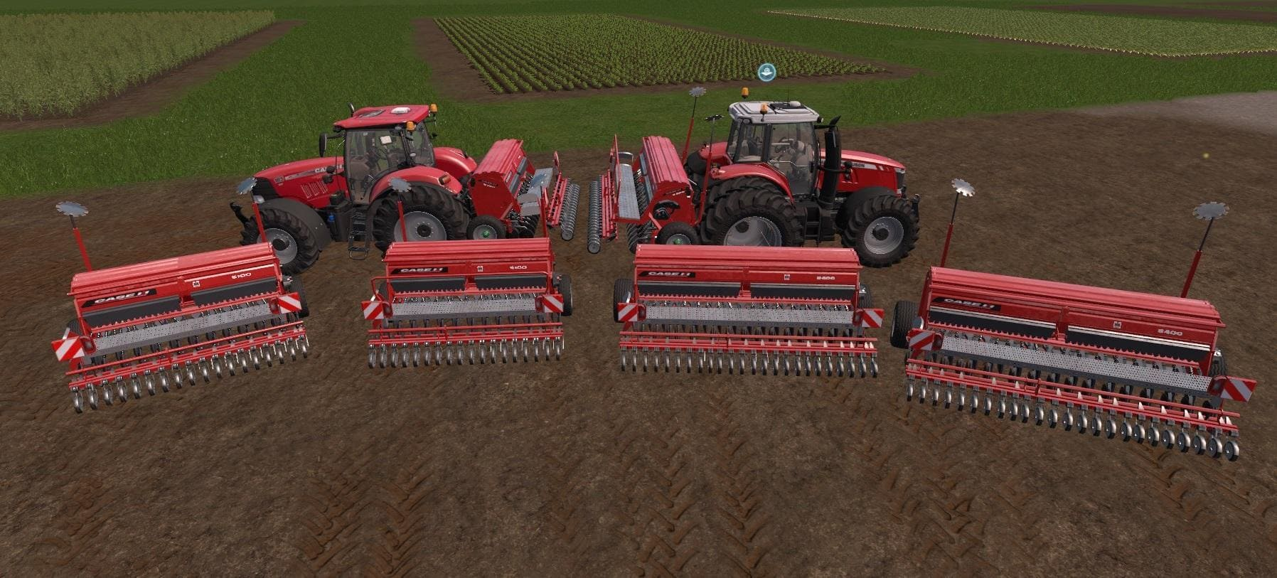 Мод ПАК сеялки CASE 5000 SUPER PACK V1.0 Farming Simulator 17