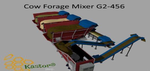 Мод кормосмеситель COW FORAGE MIXER G2-456 V1.0.0.1 Farming Simulator 2017