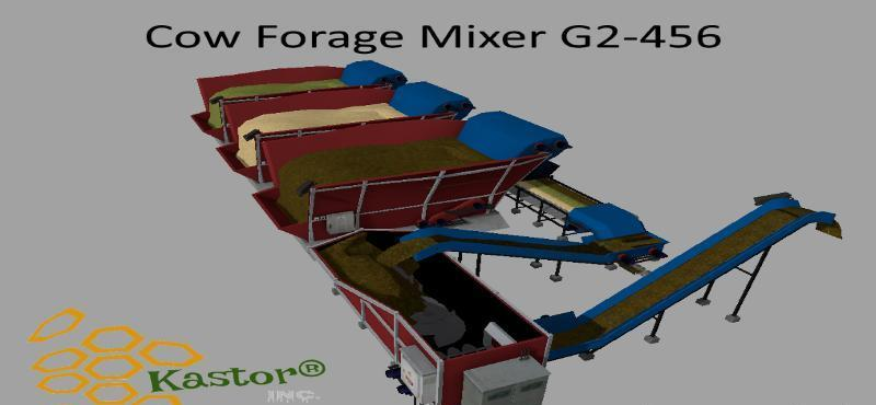 Мод кормосмеситель COW FORAGE MIXER G2-456 V1.0.0.1 Farming Simulator 2017