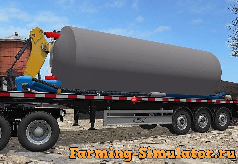 Мод прицеп FUEL TRAILER FLATBED V1.0 Farming Simulator 17