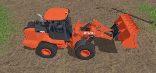Мод погрузчик HITACHI ZW150-6 V1.1 Farming Simulator 17