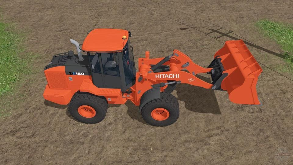 Мод погрузчик HITACHI ZW150-6 V1.1 Farming Simulator 17