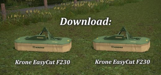 Мод косилка KRONE EASY CUT F230 V1.1 Farming Simulator 17
