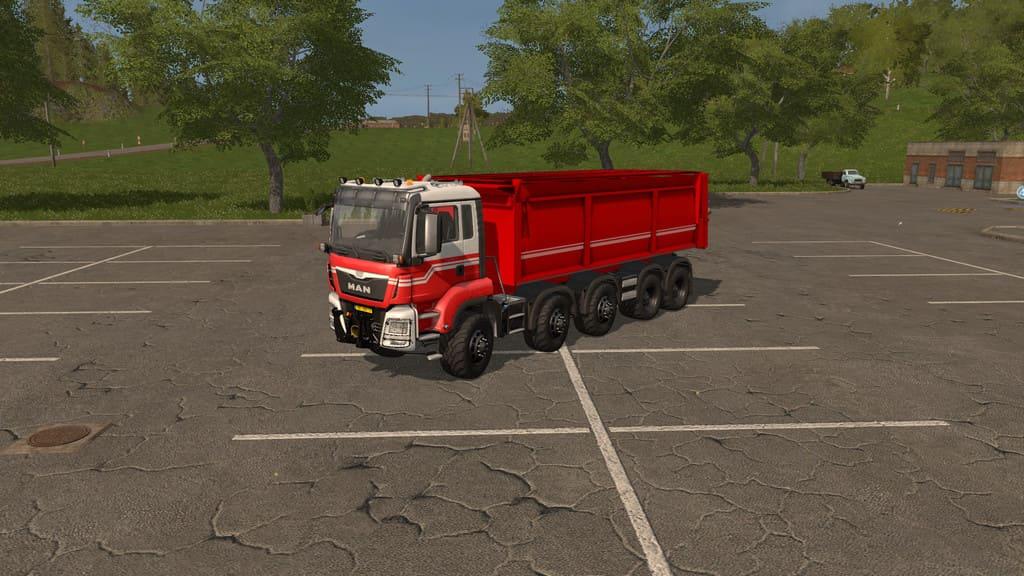 Мод грузовик MAN TGS Kipper v1.0 Farming Simulator 17