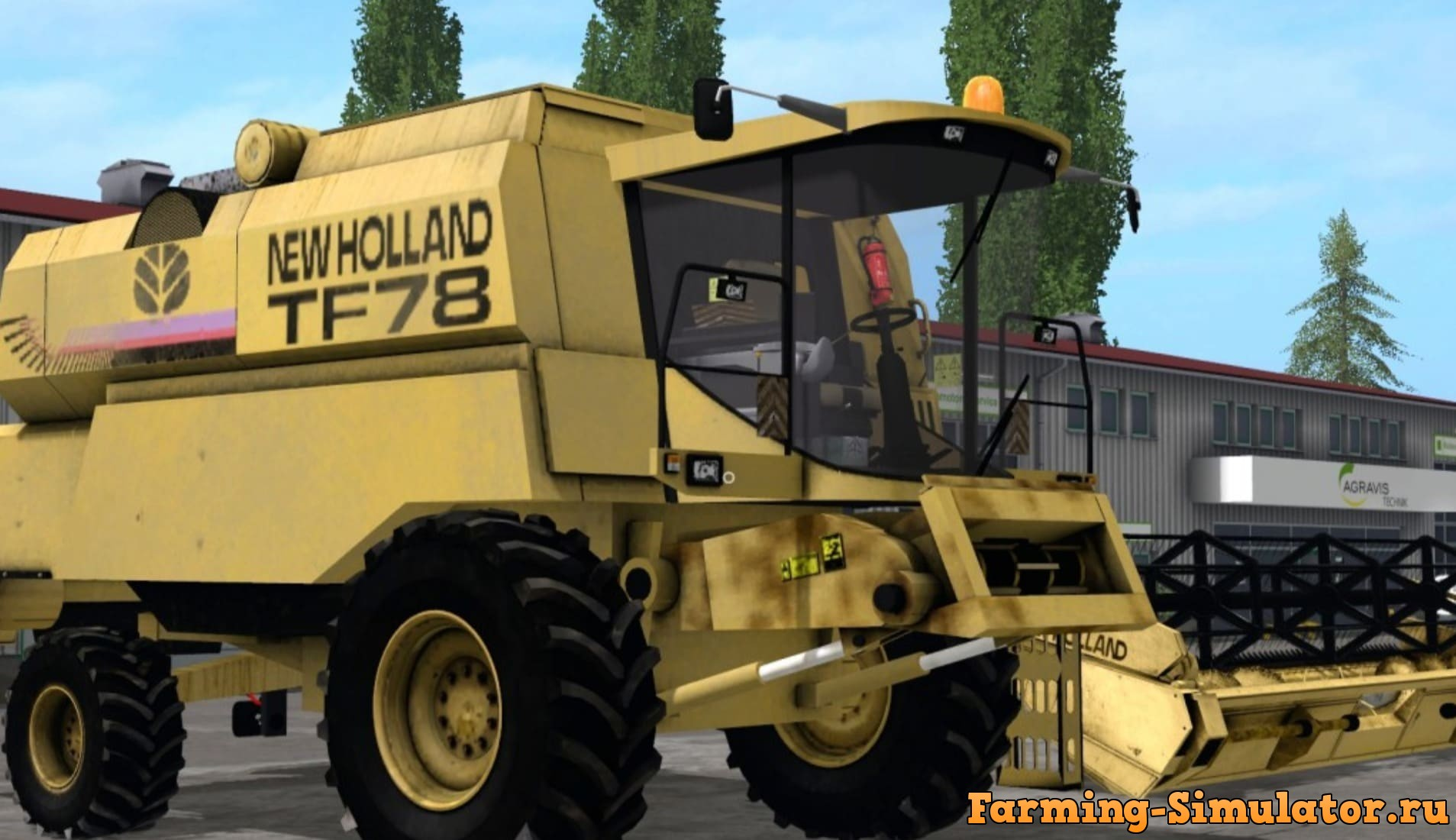Мод комбайн New Holland TF78 v1.0 FS17