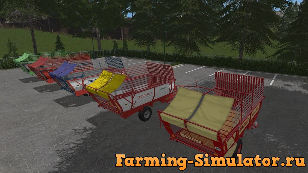 Мод ПАК прицепы OLD FORAGE WAGONS V1.0.0.0 Farming Simulator 2017