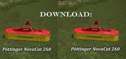 Мод сенокосилка POETTINGER NOVA CAT 260 v1.1 Farming Simulator 2017