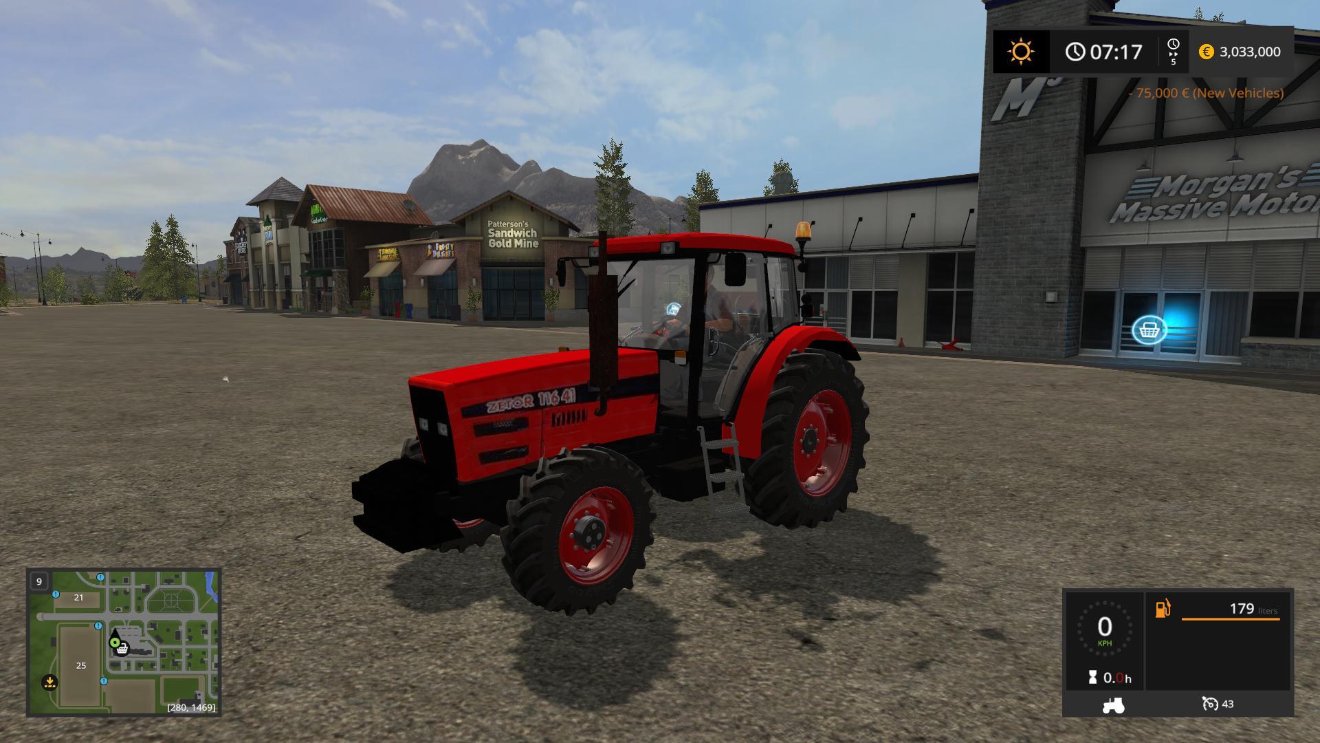 Мод трактор ZETOR 11641 V1.0 Farming Simulaor 2017
