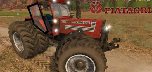 Мод трактор Fiat 180-90 Turbo v2.2 Farming Simulator 17