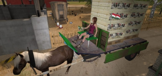 Мод прицеп Hungary Trailer v1.0 Farming Simulator 2017
