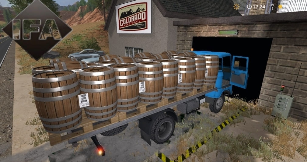 Мод грузовик IFA W50 Balen v2.0 Farming Simulator 17